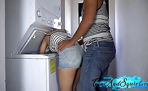 Deception sister acquires fucked in laundry court increased by cum on high their way bosom - legal age teenager increased by rain
