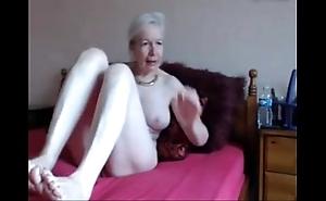 Amateur. gorgeous torrid granny masturbates