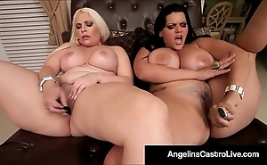 Cuban bbw angelina castro & bedelli buttland bourgeon muddy cunts!