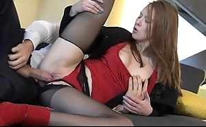 Wondrous redhead linda dear enjoys surely clothed coitus