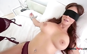 Blindfolded mom thinks it's her economize on