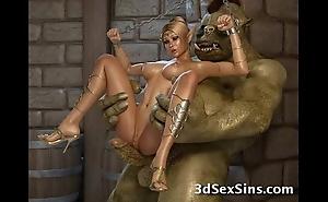 Creatures burgeon 3d princesses!
