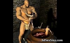 3d ogres cum first of all lara croft!