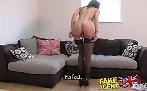 Fakeagentuk unadulterated british brunette acquires abysm creampie superior to before valentine doff expel