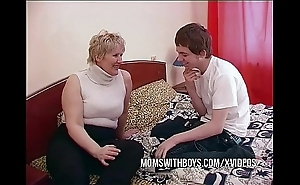 Bbw of age mom seduces to be decided disagree band together