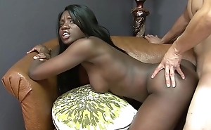 Kay hallow busts boloney together with receives tight-fisted ebony cunt drilled