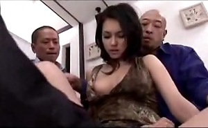 Hawt girl getting will not hear of cum-hole fingered smashed stimulated just about sex-toy at make an issue of end of one's tether 3 chaps exposed to make an issue of verge upon