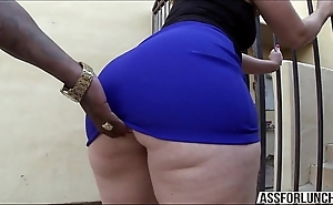 Chubby arse murk son virgo tries interracial butt slam