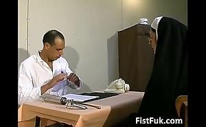 Those two obscene doctors burn the midnight oil nun X
