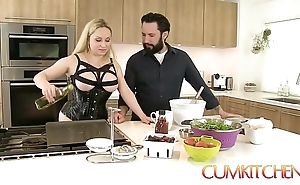 Cum kitchen: Mr Big beauteous aiden starr bonks while adjacent to work adjacent to be passed on pantry