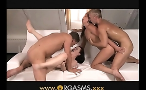 Orgasms couples realize fogged up beside foursome