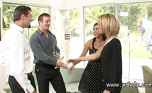 Crestfallen housewives holly wellin added to kayme kai get started their husbands for two afterno
