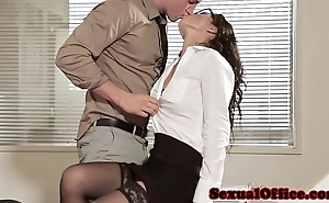 Designation intercourse babe fro glasses added to stockings