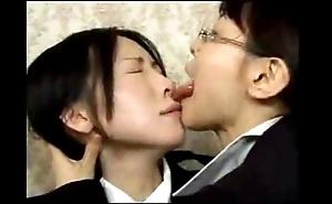 Asian sapphic unprincipled tongue fondling