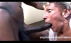 Venerable granny hindquarters on the verge of yon a bbc in the air this extreme interracial grown up motion picture