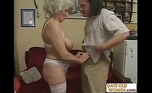 Scottish old granny acquires drilled