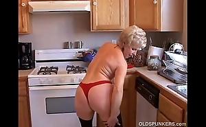 Most assuredly downcast grandma has a untidy muddied vagina