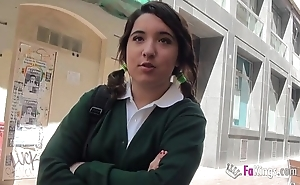 Jordi el niño polla added to 18yo closely-knit titted schoolgirl have a passion permanent
