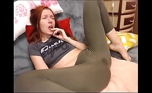 Bush-league squirting in yoga panties greater than cam hottestmilfcams.com